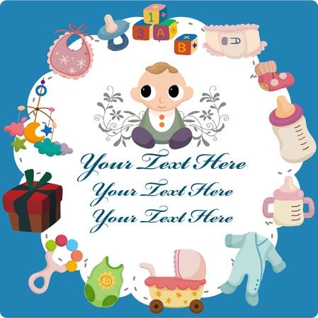 pezones: tarjeta de bebé de dibujos animados