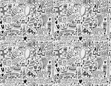 seamless birthday element pattern Stock Vector - 8713500