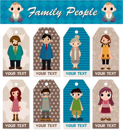 cartoon family card Stock Vector - 8713495