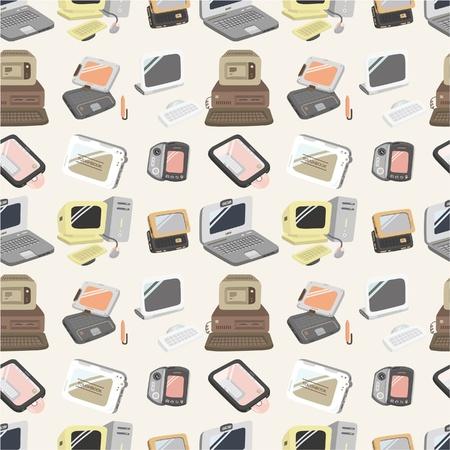 palmtop: seamless computer pattern  Illustration