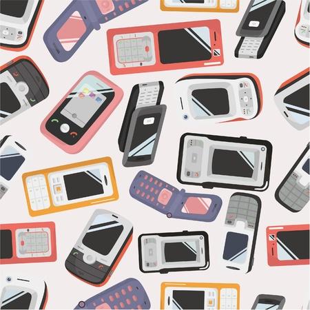 seamless Mobile phone icon Stock Vector - 8713512