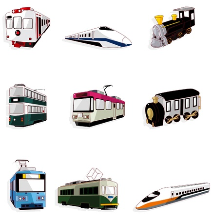 tren caricatura: icono de tren de dibujos animados