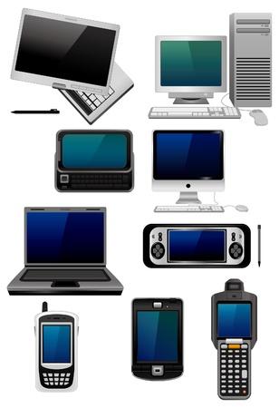 postazione lavoro: icona del computer dei cartoni animati Vettoriali