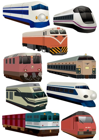 entrenar: icono de tren de dibujos animados