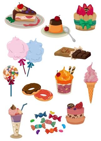 pudding: cartoon candy icon Illustration
