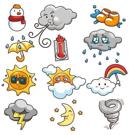 weather cartoon: cartoon weather icon