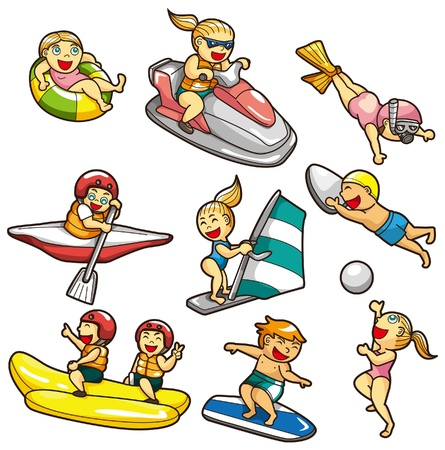 rafting: Cartoon Wasser Sport Symbol