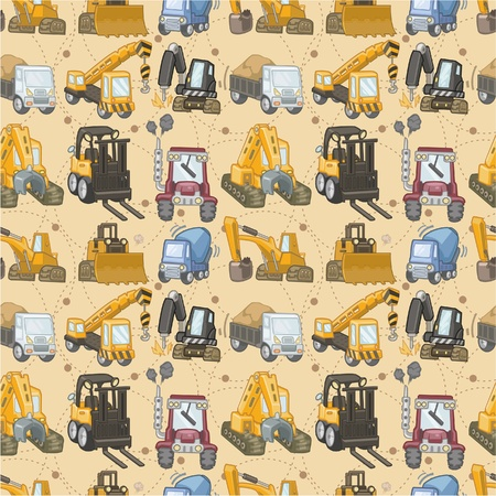 seamless truck pattern Stock Vector - 8918955