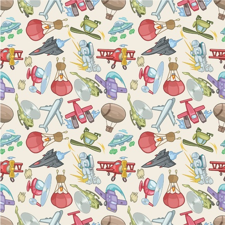 seamless airplane pattern  Vector