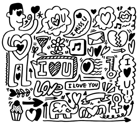 hand draw love element  Vector