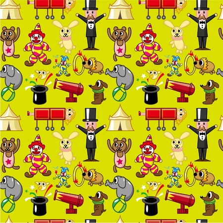 seamless circus pattern Vector