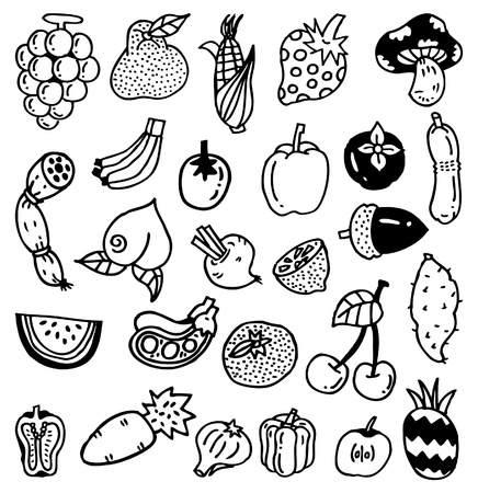hand draw vegetable Vector