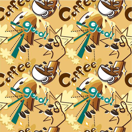 seamless cafe pattern Stock Vector - 8918920