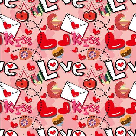 heart seamless pattern: seamless love pattern