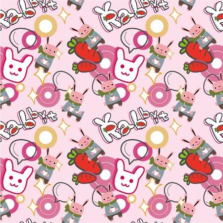 seamless rabbit pattern  Vector