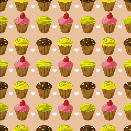fairycake: seamless cake pattern Illustration