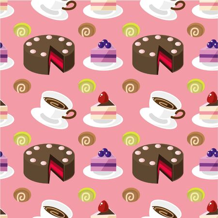 seamless cake pattern Stock Vector - 8918644