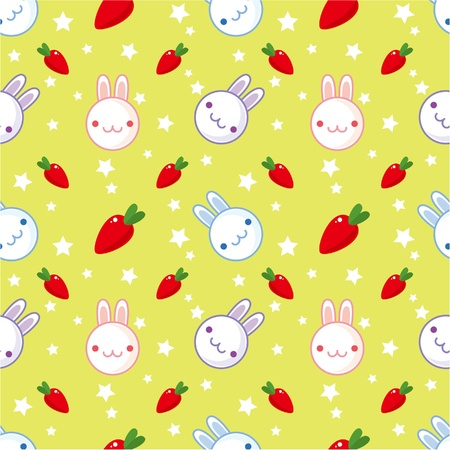 seamless rabbit pattern Vector