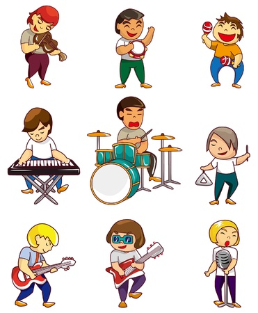 cartoon rock band icon Stock Vector - 8918965