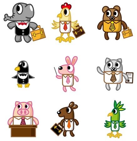 cartoon animal worker icon Stock Vector - 8918966