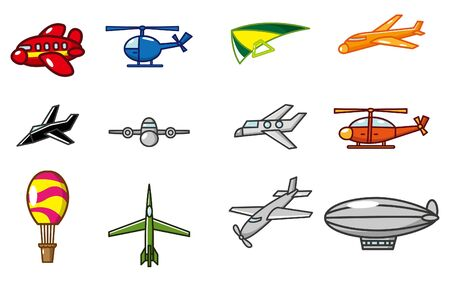 vintage airplane: cartoon airplane icon