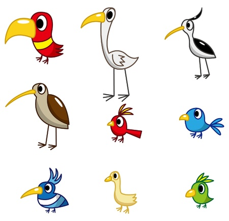 cartoon bird icon 일러스트
