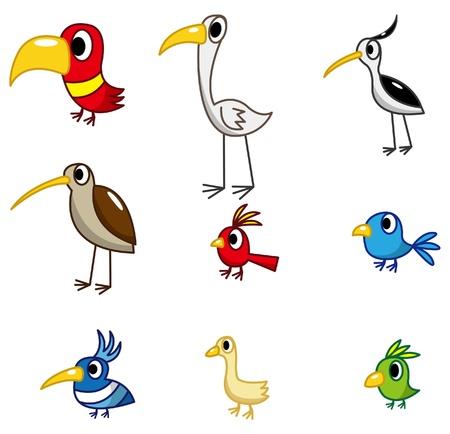cartoon bird icon Stock Vector - 8918959