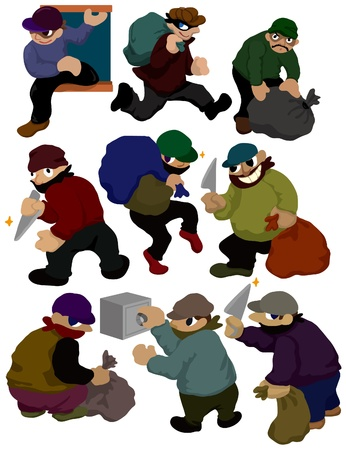 cartoon thief icon Vector