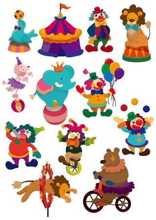 entertainment tent: icono de circo de dibujos animados Vectores