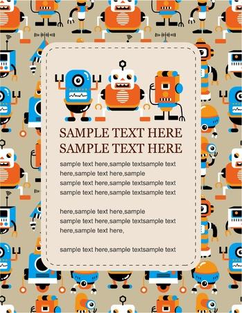 robots: cartoo robot card