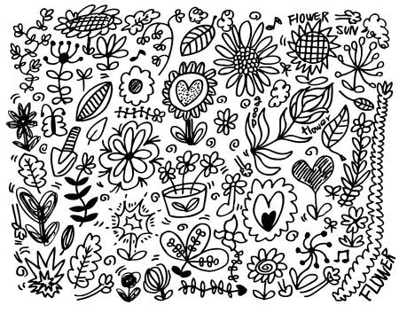 hand draw flower element Stock Vector - 8927433