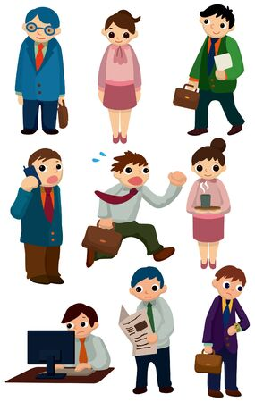 ceo: cartoon workers icon Illustration