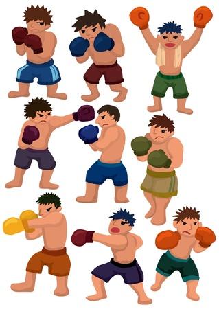 cartoon boxer icon Vector