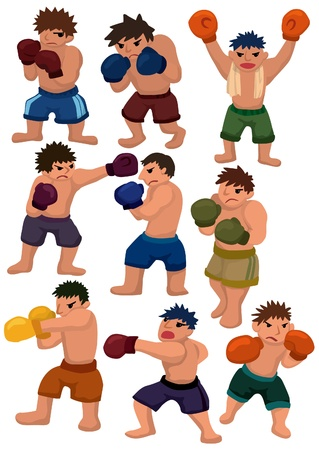 match box: cartoon boxer icon Illustration