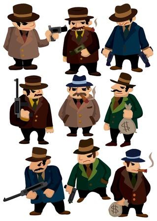 de maras: icono de mafia de dibujos animados