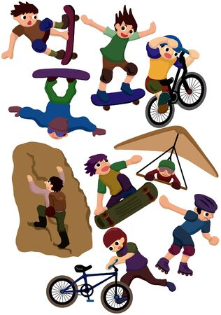 cartoon extreme sport icon  Stock Vector - 8927449