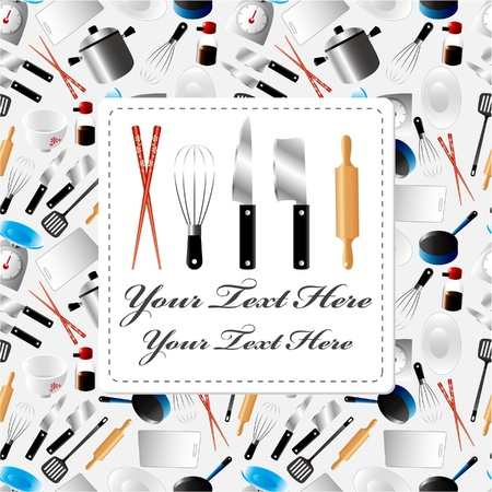 cartoon kitchen card  Stock Vector - 8927464