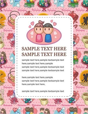 cartoon love card Stock Vector - 8927465