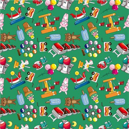 seamless playground pattern Stock Vector - 8927461