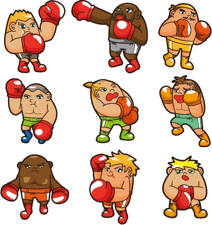 cartoon boxer icon  Vector