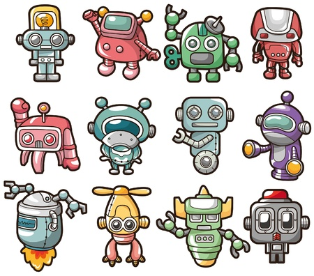 funny robot: cartoon robot icon
