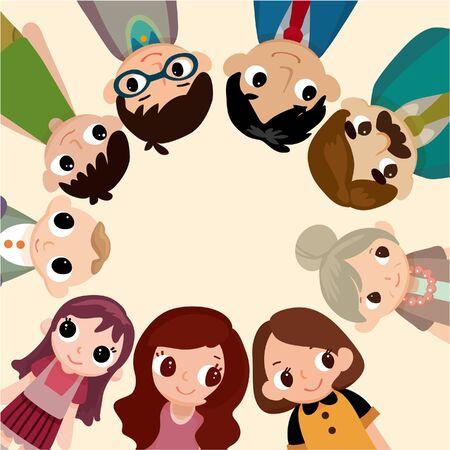 만화 가족 카드