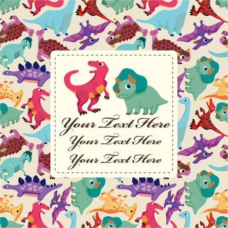 cute dinosaur: cartoon dinosaur card