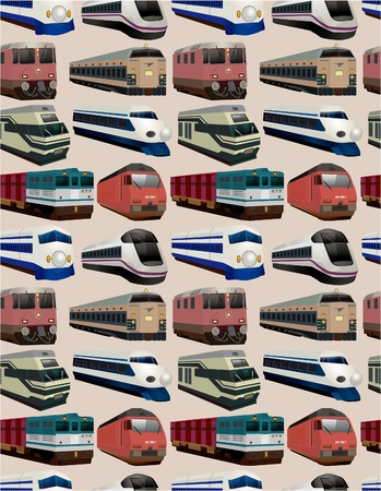 seamless train pattern  Vector