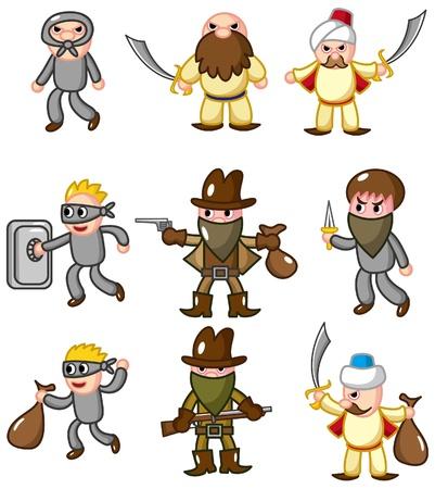 cartoon thief icon Stock Vector - 8927472