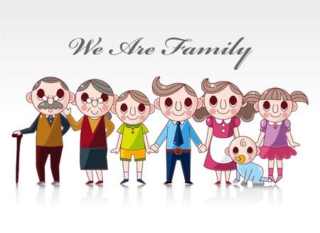 cartoon family card Stock Vector - 8927471
