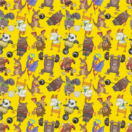 seamless animal sport pattern Vector