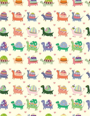 tortoise: seamless tortoise pattern Illustration