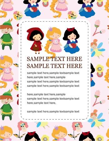 fairy story: carta di principessa Vettoriali