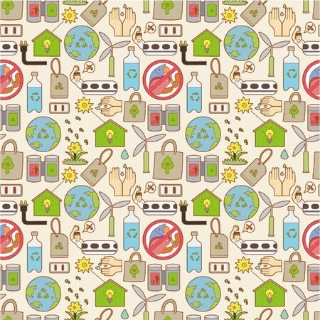 seamless eco pattern Vector